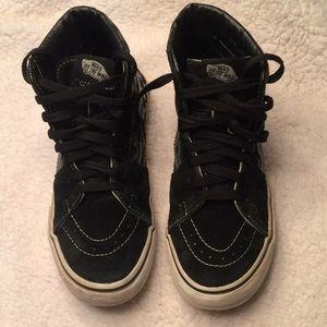 9fe0e637cd Vans Shoes - Vans SK8-HI checkered black pewter size 6